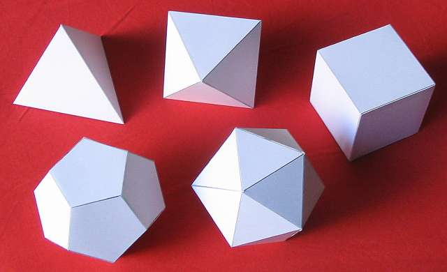 Paper Models of the five Platonic SolidsImages Of Solids